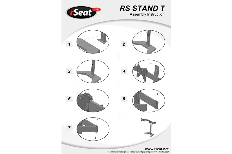 rs stand t  monitor stand for up to 3x24 inch monitors